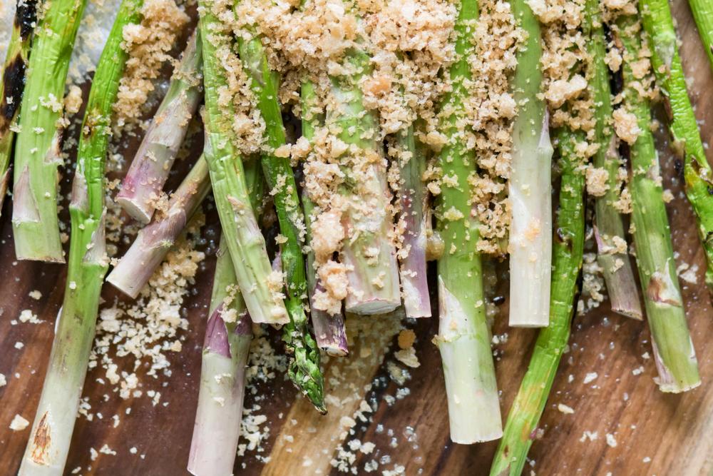 verduras para asar en la barbacoa